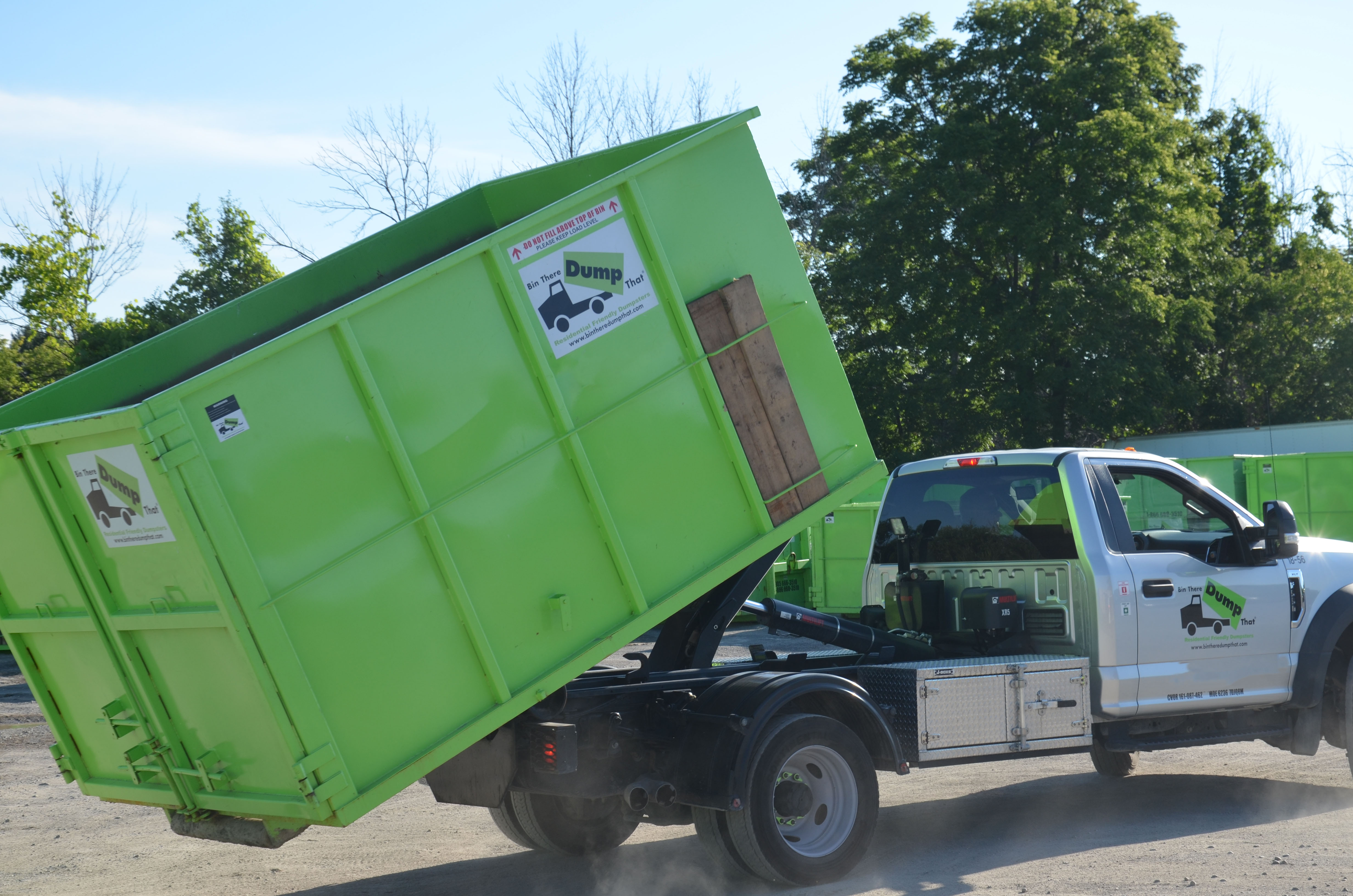 20 yard dumpster and bin there dump that truck