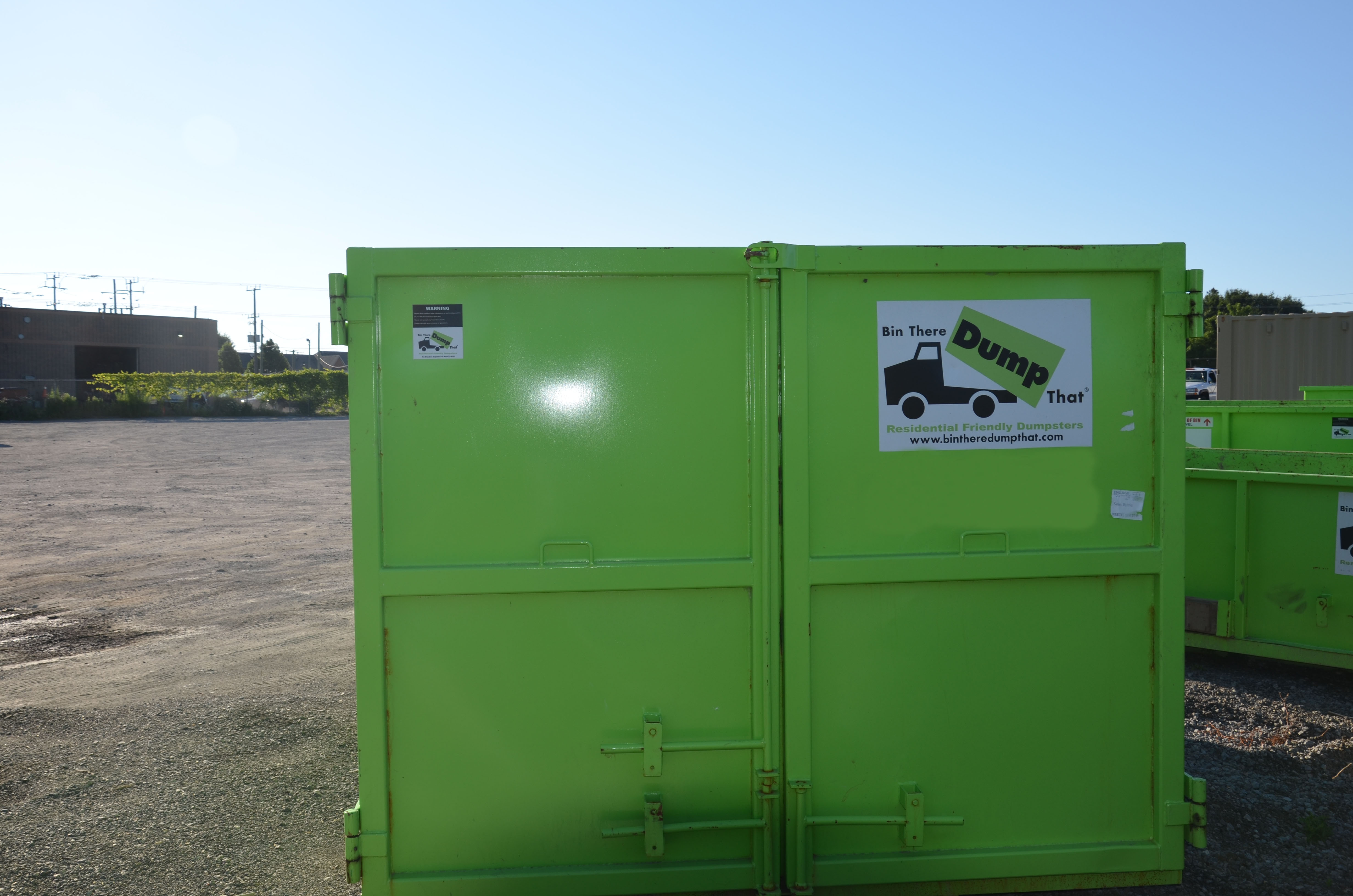 bin there dump that 20 yard dumpster double doors